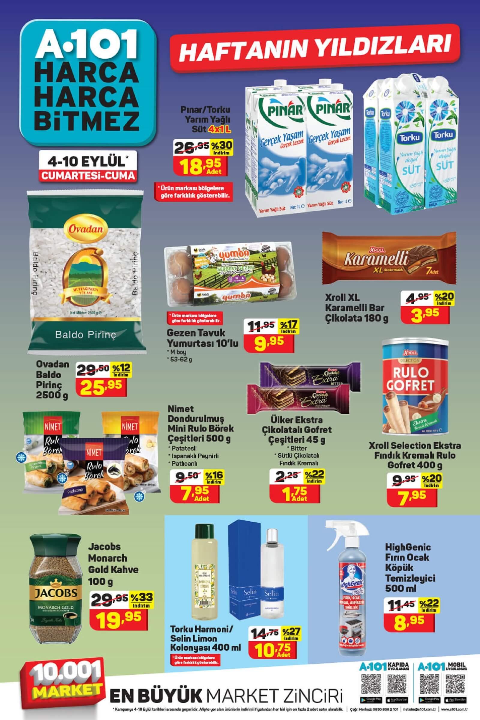 A101 10 Eylüle kadar geçerli aktüel kataloğunda ürünlerde devasa indirimler var